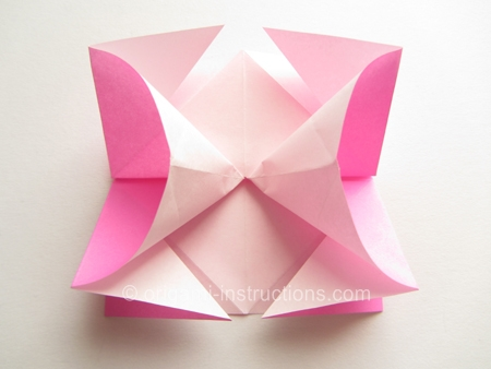 How to make a rose using origami paper howsto co for How to make a paper rose origami