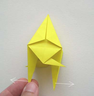 origami angel step by diagram s video cable wiring instructions how to make fish pulling bottom corners of kite apart form fins