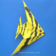 Origami Angel Step By Diagram Super Strat Wiring Instructions How To Make Fish Decorated With Markers