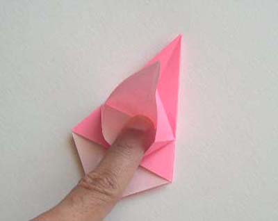 Origami Lily flower photo diagrams 11