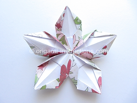 star flower origami diagram 2011 vw jetta radio wiring modular 5 petal folding instructions