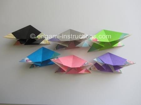 cool modular origami diagram lewis dot for n2 spinner folding instructions step 6