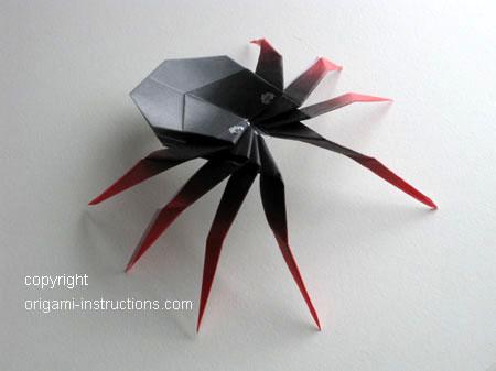 origami spider – do origami | 337x450
