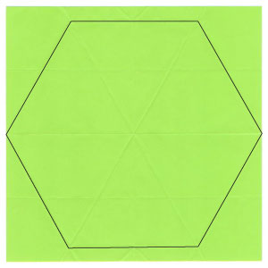 Cutting A Hexagon From A Square