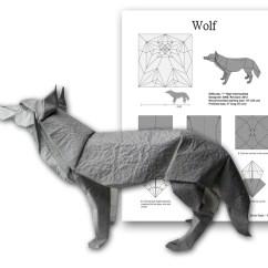 Origami Wolf Instructions Diagram Lion Skeleton Folding   Tutorial Handmade