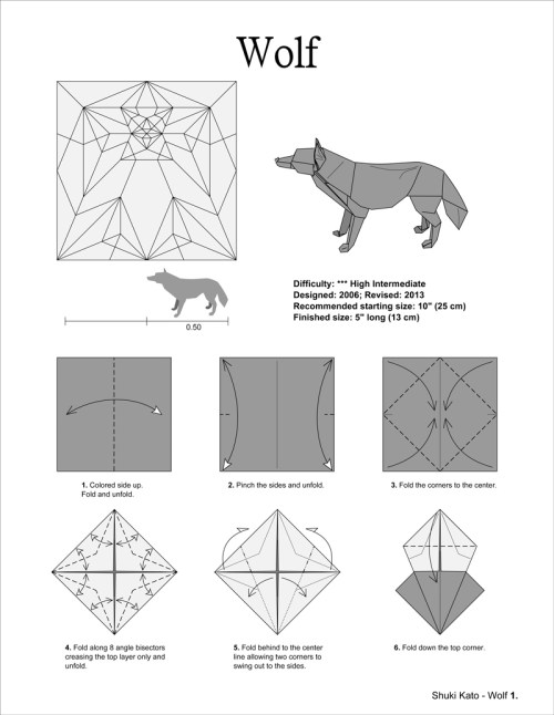 small resolution of origami project 5 wolf by shuki kato white washi deluxe 4 jpg