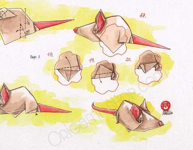 origami angel step by diagram usb power cable wiring sketchbook book