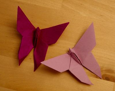 Origamipage  Schmetterlinge