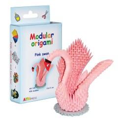 3d Origami Diagram Animals Pj Trailer Gooseneck Wiring Chinese Modulars Pink Swan 428 Modules