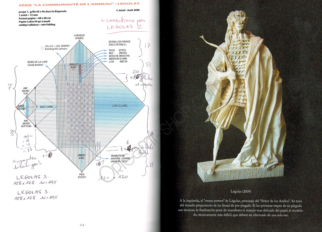eric joisel origami mermaid diagram wiring for motorcycle turn signals book la majel del papel retrato de