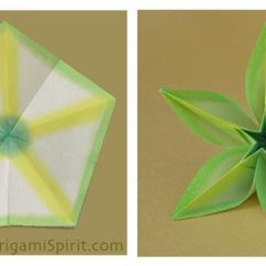 Origami Flower Diagram In English Manganese Pourbaix Instructions Video On How To Make A Kusudama With Carambola The