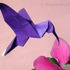Origami Hummingbird Diagram Instructions Leviton Motion Sensor Light Switch Wiring An Easy To Fold