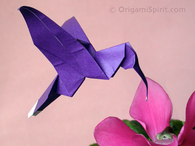 origami hummingbird diagram instructions ibanez gio hsh wiring an easy to fold