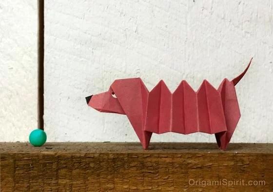 origami daschund