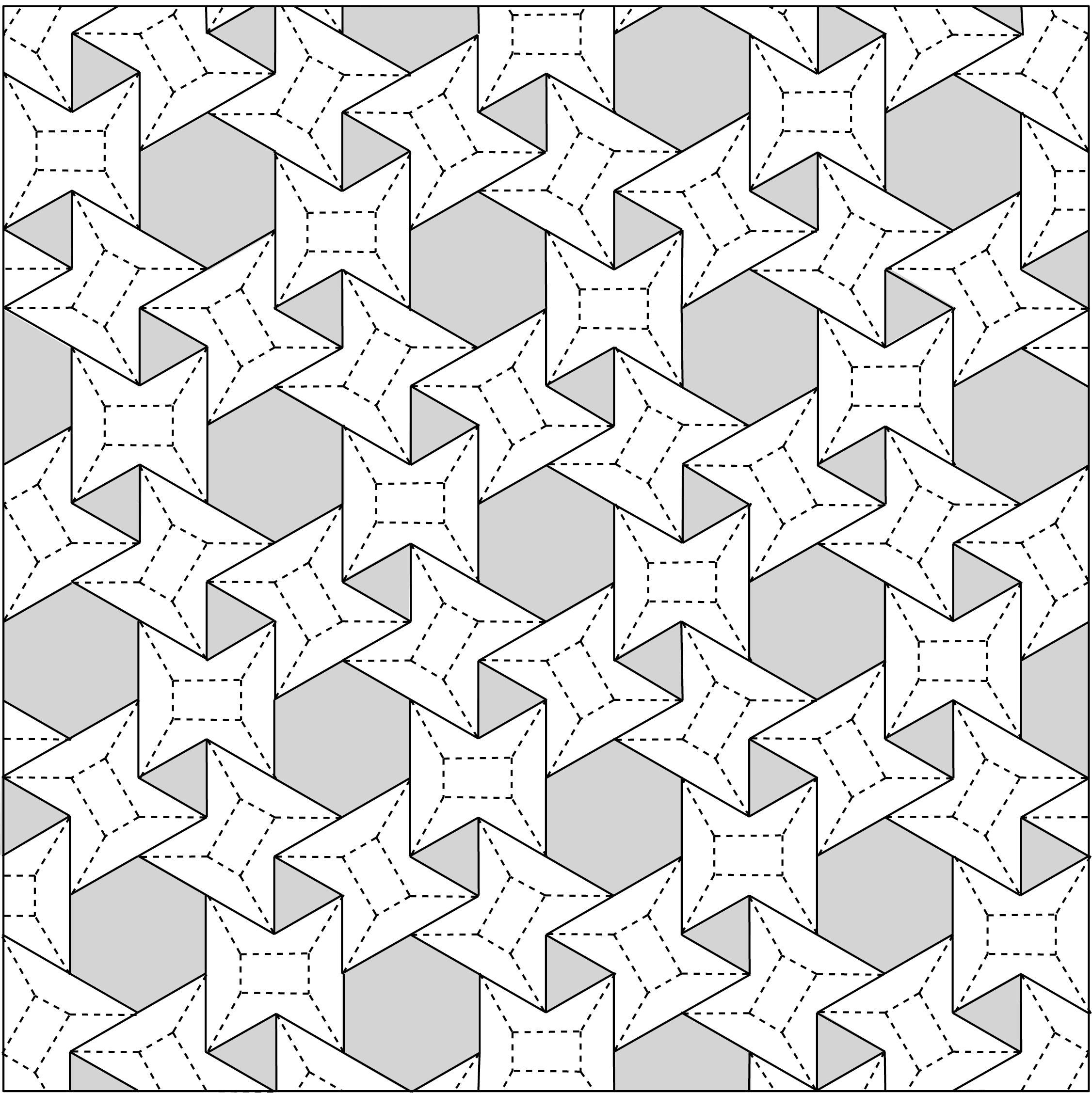 3636 Flagstone Tessellation Crease Pattern