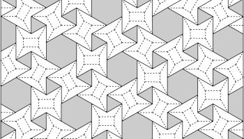3636 Waterbomb Flagstone Tessellation Crease Pattern