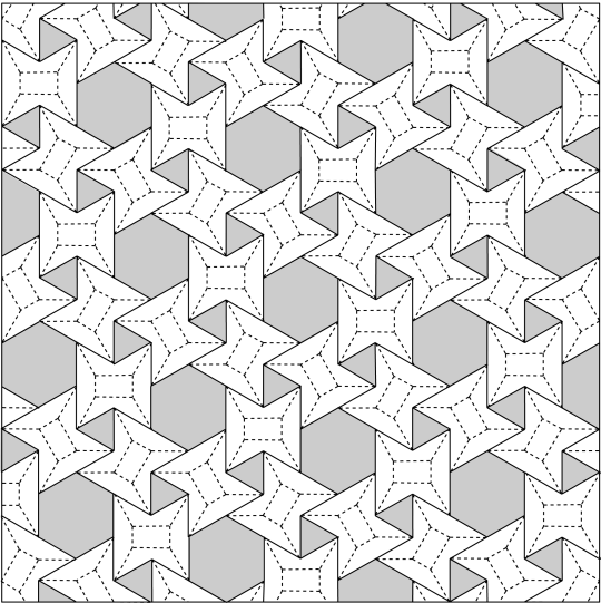 3.6.3.6 flagstone tessellation, Crease Pattern