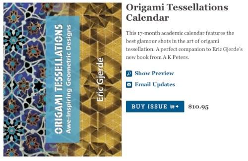 Origami Tessellations Calendar
