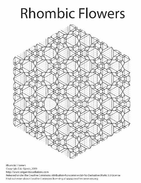 rhombic flowers  u2013 origami tessellations