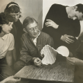 Josef Albers teaching paper folding