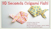 10 Seconds Origami Fish Thumbnail Origami OrigamiTree