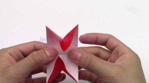 2 4 petal star flower origami origamitree.com