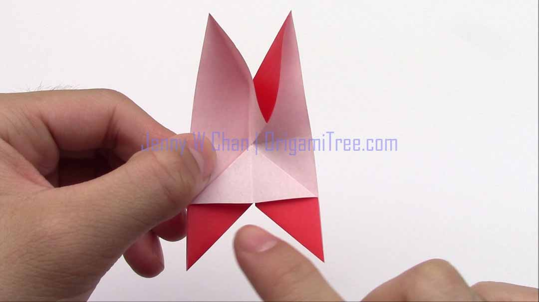 Origami 4 petal star flowers origamitree 3 4 petal star flower origami origamitree mightylinksfo