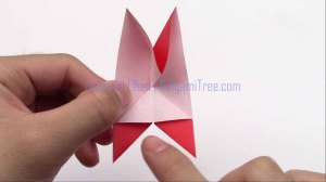 3 4 petal star flower origami origamitree.com