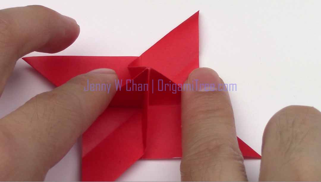 Origami 4 petal star flowers origamitree origami 4 petal flower origamitree mightylinksfo Images