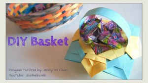 Origami Basket With Handle