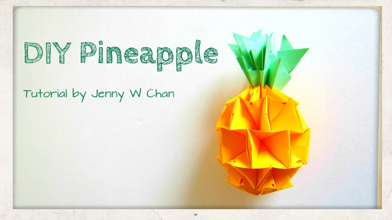 Origami Pineapple Tutorial