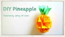 origami pineapple origamitree.com