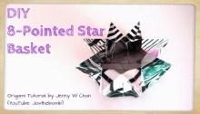 origami basket 8 pointed lantern origami origamitree.com