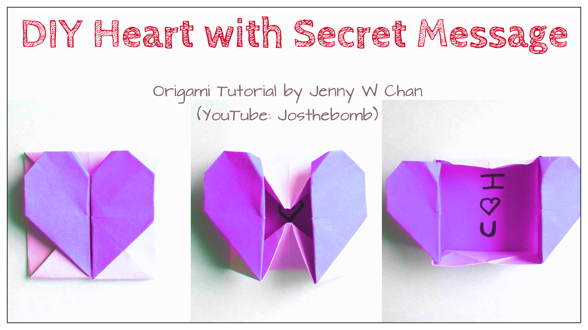 Origami Heart With Secret Message Origamitree