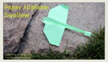 swallow airplane plane origami origamitree.com