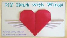 heart wings origami origamitree.com