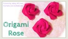 Easier Kawasaki rose origami origamitree.com