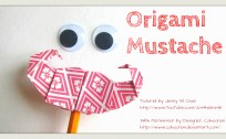 origami mustache origamitree.com