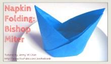 napkin bishop miter hat origami origamitree.com