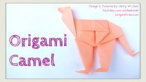 origami camel origamitree.com Jenny W Chan