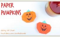 pumpkin origami origamitree.com