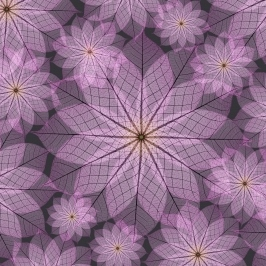 Purple Flowers - Free Printable Origami Paper