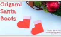 santa boots origami origamitree.com