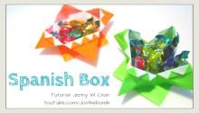 spanish box origami origamitree.com