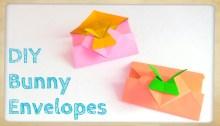 bunny envelopes origami origamitree.com