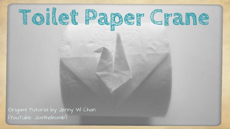 Toilet Paper Crane