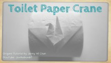 toilet paper crane origami origamitree.com
