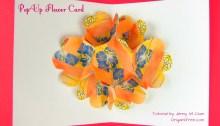 pop up flower card origami origamitree.com