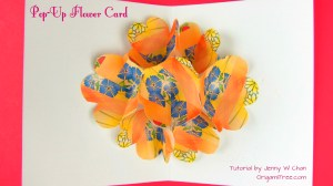 pop up flower card origami origamitree.com