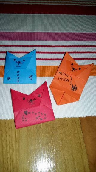 Origami Cat Envelope, Ana Liza T. | TUTORIAL: bit.ly/CatEnvelope